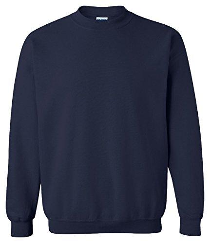 - Gildan Adult Heavy BlendCrew Neck Sweatshirt - Navy - L