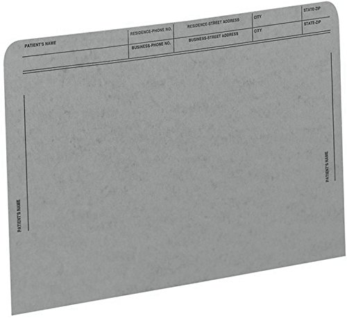 (Medical Arts Press Match File Pockets with Printed Patient Grid- Gray, Letter Size, 50/Box (59547GY))