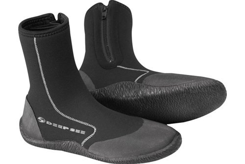 Deep See Atlantic 5mm Dive Boot, Black, Size 5