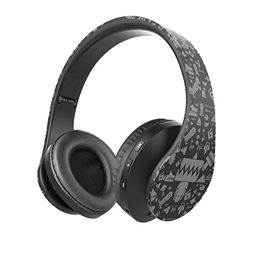 OldShark V7 Bluetooth Headphones Over Ear, Stereo Wireless Headset, Foldable, Soft Earmuffs, w/ Built-in Mic and Wired Mode