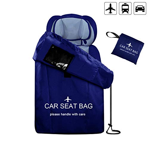 (UMJWYJ Car Seat Travel Bag Adjustable Padded Backpack for Car Seats Car Seat Travel Tote Ideal Gate Check for Air Travel & Saving Money Safe & Germ-Free Car Seat(Blue))