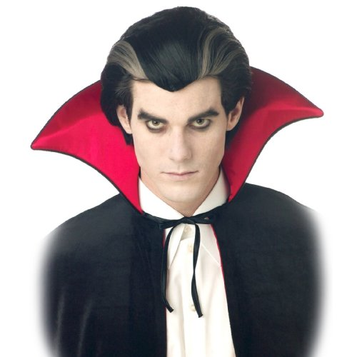 [California Costumes Men's Modern Vampire Wig,Black,One Size] (Dracula Costume For Men)