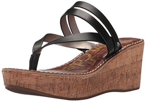 - Sam Edelman Women's Rasha Wedge Sandal, Black Leather, 8.5 M US