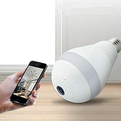 1080P HD 360° Panoramic Hidden wifi IP Camera Light Bulb Home Security Video Cam