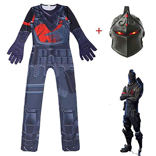 Kids' Cosplay Costume Black Knight with Mask