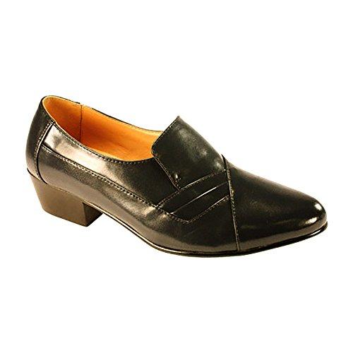 DItalo Black Leather Comfort Fashion