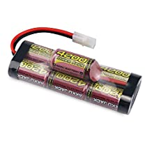 Melasta 8.4V 4200mAh 7-Cell Hump Pack NiMH Battery with Tamiya Discharge Plug for RC Racing Car