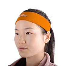 COOLOMG Solid Moisture Wicking Stretchy Non-slip Headband For Sports Yoga Running Men Women