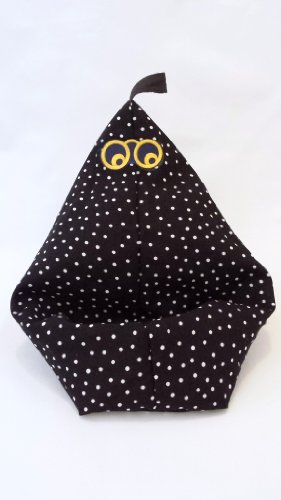 "Happy Kindle Stand by Book Beanie, ""Black Pindot"" or View More Fabric Choices (Fits All Ereaders and Tablets)"