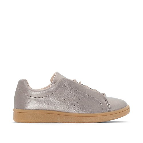 La Redoute Collections Big Girls Shiny Trainers, 26-39 Grey Size 37 by La Redoute