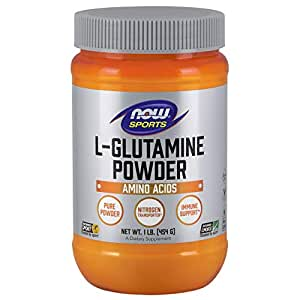 L-Glutamine Powder 1 lb NOW Foods