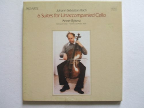 Bach: Six Suites for Unaccompanied Cello. Anner Bylsma, (Cello-Goffriller, 1699) Performance 1979. - Unaccompanied Vinyl Cello