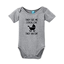 They See Me Strollin They Hatin Onesie Funny Bodysuit Baby Romper