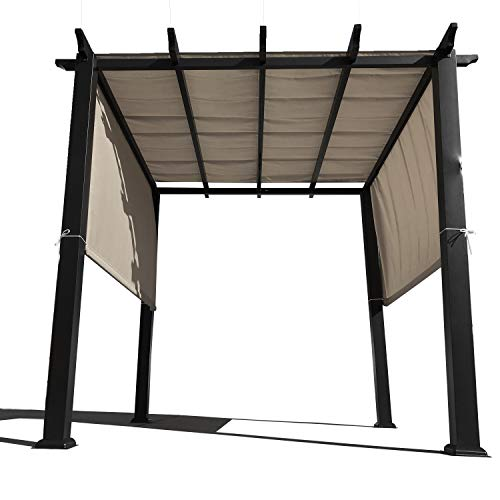 Alion Home Rod Pocket Waterproof Universal Replacement Shade Canopy Top Cover for Pergola (16' x 8', Muddy Water) (Canopy Replacement Plan)
