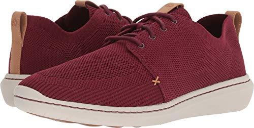 (CLARKS Men's Step Urban Mix Sneaker, Burgundy Textile Knit, 080 M US)