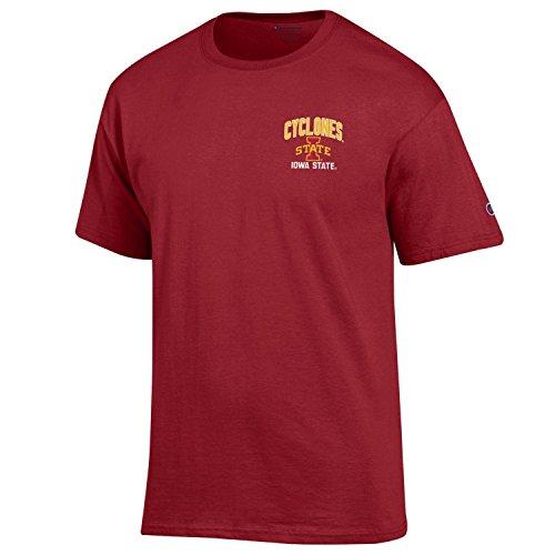 Champion NCAA Iowa State Cyclones Men's Men's Backfield Short sleeve T-Shirt, Medium, Cardinal