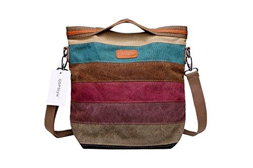 Shoulder Strip Totes Bags Canvas Cross Women Pattern Body Bag GSPStyle Handbag Messenger vXz4q184