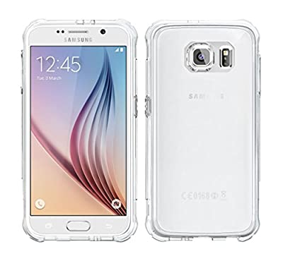 Galaxy S6 Case, roocase [PLEXIS IMPAX] Clear Back Design [Slim-Fit] Protective Hybrid PC / TPU Case Cover for Samsung Galaxy S6 (2015), Clear