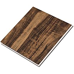 "Cali Bamboo - Cali Vinyl Pro Commercial Vinyl Flooring, Extra Wide, Walnut Creek - Dark Hand Scraped Wood Grain - Sample Size 6"" L x 7 1/8"" W x 5.5mm H"