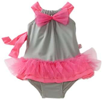Floatimini Baby-Girls Infant Ballerina Tutu Swimwear, Pink, 6-12 Months