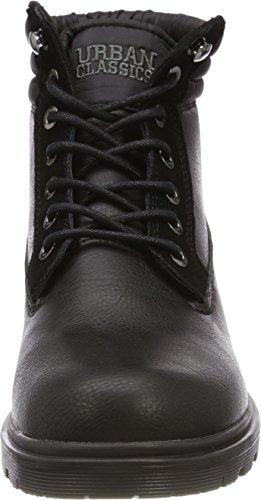 Urban Classics Herren Winter Boots Chukka Schwarz (Black/Black)