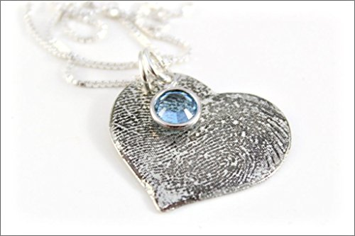 Custom Fingerprint or Thumbprint Heart Necklace | Finger Print, Thumb Print Jewelry, Gifts for Wife, Personalized Finger Print Jewelry