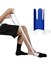 Antdvao Sock Aid Tool, Sock Helper for Elderly , Socks Aid Easy on and off Stocking, Put on Socks Without Bending Over, Flexible Socks dressing for the disabled, pregnant women(Blue)