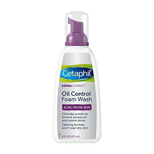 Cetaphil DermaControl Oil Control Foam Wash 8 OZ - Buy Packs and SAVE (Pack of 3)