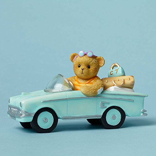Cherished Teddies Every Mile is a Memory Bear on a Tropical Road Trip Figurine - Figurine Bear Cherished Teddies