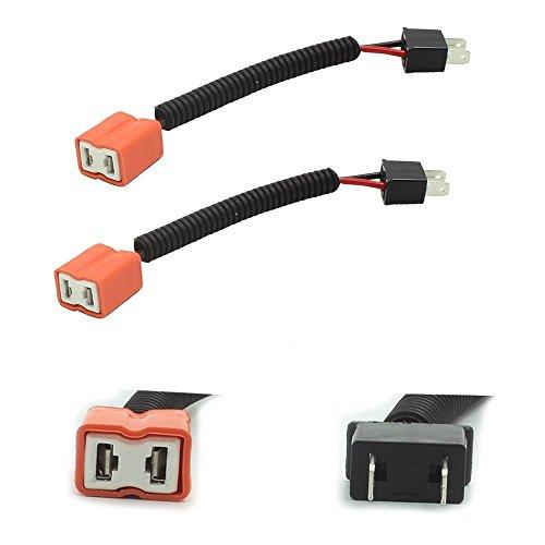 HALOYiVGO H7 Heavy Duty Ceramic Wiring Harness Sockets For Headlights or Fog Lights adapter (2PCS) (H7 Headlight Wire Harness)