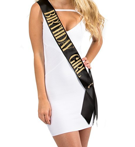 (Fashionable BLACK Satin Sash