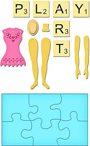 Mix Media Art Doll - Spellbinders S5-087 Shapeabilities Mix'd Media Playtime Die Templates
