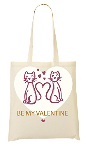 Two Sac Provisions Cats Sac Valentine Be À My Tout Fourre 4nEx7