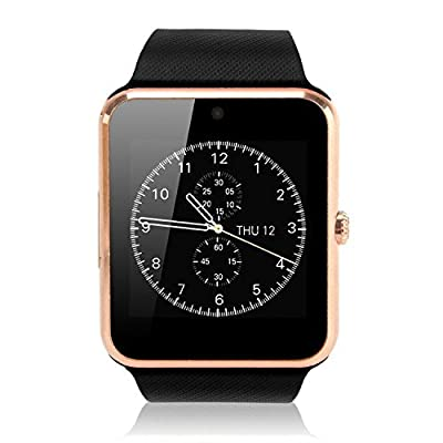 Pandaoo Smart Phone Watch with Global Unlocked GSM Memory Slot Camera Fitness Tracker Bluetooth Mate for Andriod Smartphones 4.2 and Above