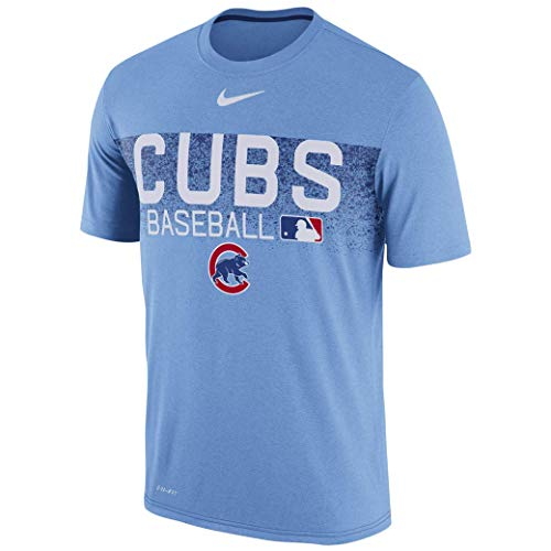 Nike Chicago Cubs Men's Authentic Collection Legend Team Issue Performance T-Shirt - Light Blue (Medium)
