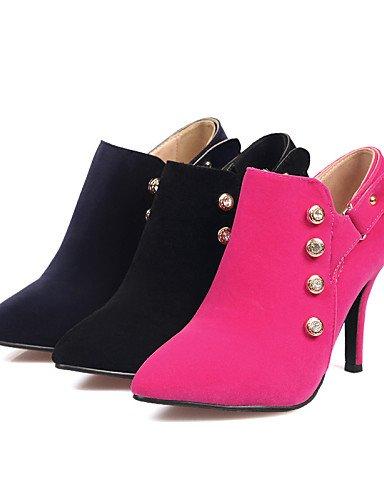 Azul Rosa Moda Vestido Uk2 Eu42 Cn43 Zapatos Mujer us4 negro Xzz 4 Pink Stiletto De Botas Botines 5 Eu34 Blue Vellón Dark A La 5 5 Puntiagudos 5 Cn33 Uk8 us10 Tacón Casual 2 aPxZwxq1Av