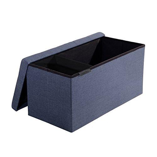 Seville Classics Foldable Bench Midnight