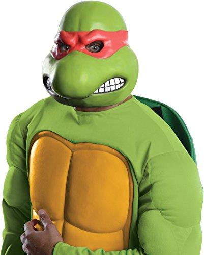 Nickelodeon Teenage Mutant Ninja Turtles Adult Raphael 3/4 Mask, Green, One Size