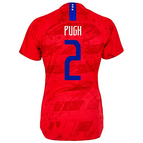Pugh #2 USA Away Women's Soccer Jersey 2019/20- (Red) (S) ()