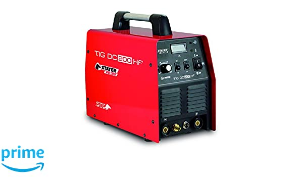 Stayer Welding - Tig Dc 200 Hf Inverter Soldadura Tig 200 (100%) A 0.5-2.4Mm 14Kg Kva6: Amazon.es: Bricolaje y herramientas