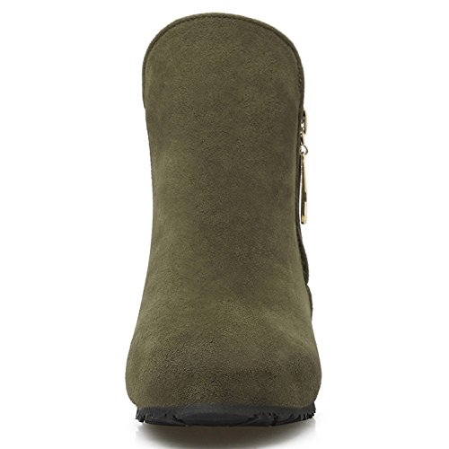 Donalworld Women Suede High Heel Martin Ankle Boot Pt14 jQPOcVoUUI
