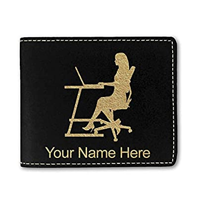 Faux Leather Wallet, Secretary, Personalized Engraving Included