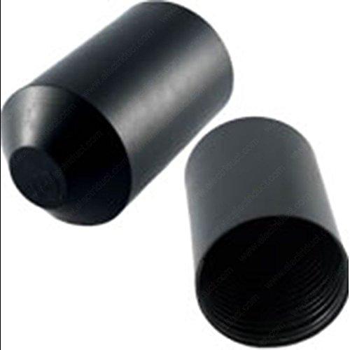 10 Pieces Black 1 Heat Shrink End Cap