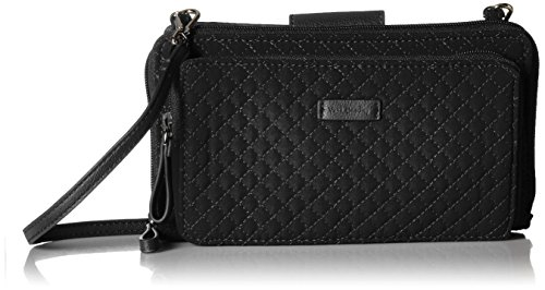 Vera Bradley Iconic Deluxe All Together Crossbody, Microfiber, Classic Black
