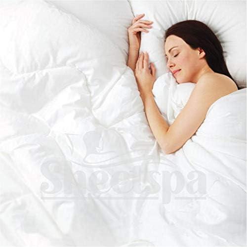 color blanco tama/ño est/ándar 50 x 75 cm Comfort Beddings Fundas de almohada Oxford de 450 hilos 100/% algod/ón egipcio 2 unidades
