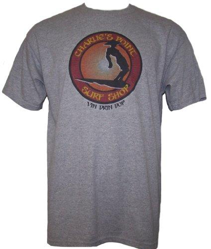 Apocalypse Now CHARLIE'S POINT SURF SHOP VIN DRIN DOP Mens Short Sleeve T Shirt