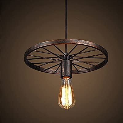 NAVIMC Industrial Kitchen Wheel Pendant Light Fixture for Kitchen Island,Dining Room