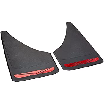 """RoadSport 4649 'A' Series Universal Fit Premiere Splash Guard (Black with Red Prism; 12-3/4"""" Height x 7-3/8"""" Wide)"""