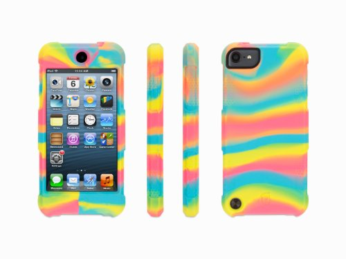 Griffin Neon Swirl Survivor Skin for iPod touch (5th/ 6th gen.) - 6-foot drop protection in a silicone skin.