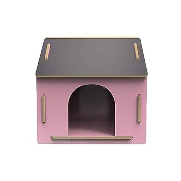 Caseta para Mascotas en el Nido de Madera al Aire Libre en la Perrera Grande Teddy Wo Dog House Cuatro Estaciones Universal - Grande - Rosa: Amazon.es: ...